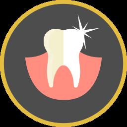Bleaching - Icon mit Darstellung einer Zahnaufhellung