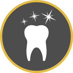 Sauber glänzender Zahn Icon